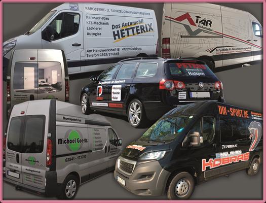 Fahrzeugbeschriftung Individuelle Werbebotschaften auf Ihrem Fahrzeug