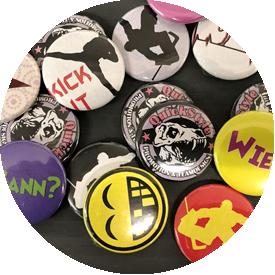 Buttonmaschinen und Buttons